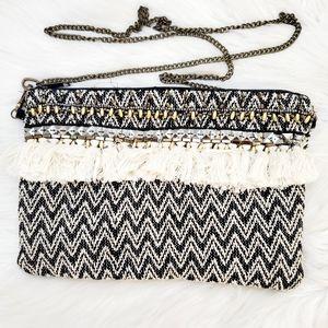 Handbags - #1265 Bohemian Festival Tassel Crossbody Bag Black